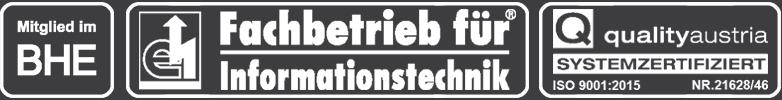Miglied im BHE - Fachbetrieb für Informationstechnik - quality austria systemzertifiziert